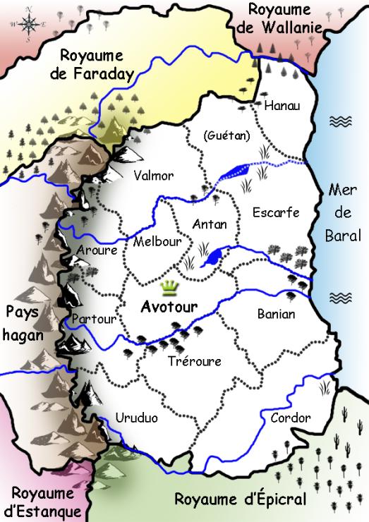 La carte du royaume d'Avotour