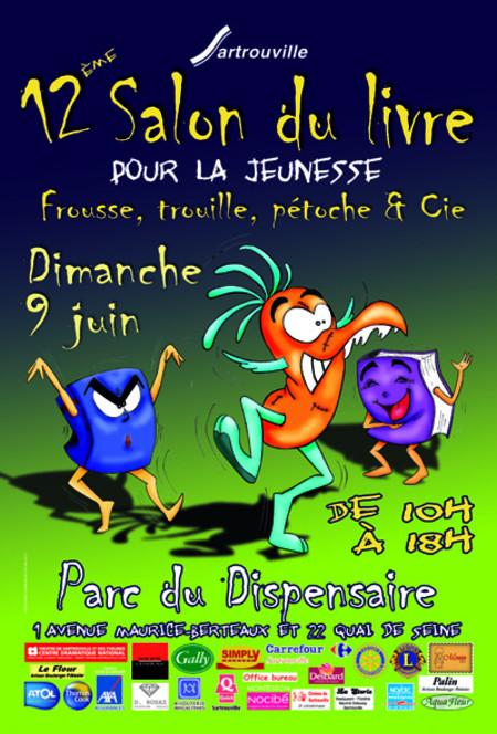 L'affiche du Salon du livre de Sartrouville 2013